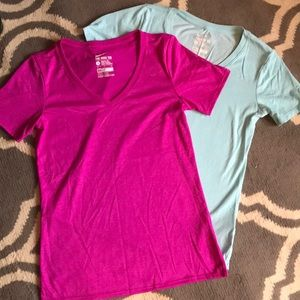 2 Nike vneck T-shirt